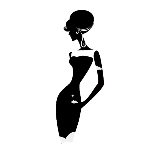 500x500 Silhouette Dress Woman Clip Art
