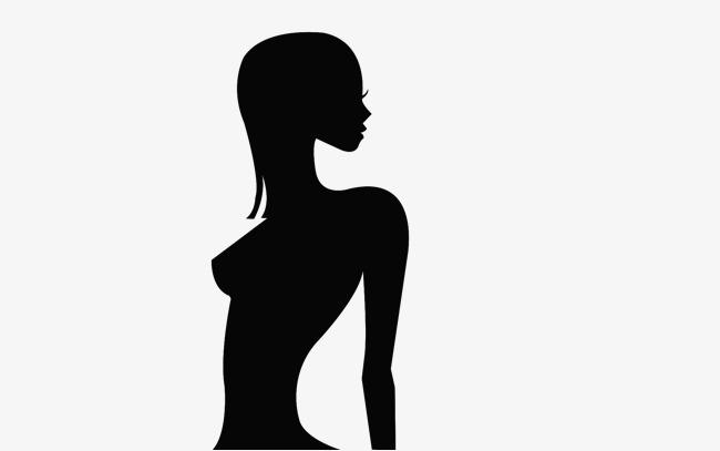 650x407 Upper Material Girl Black Silhouettes, Girl, Black, Sketch Png