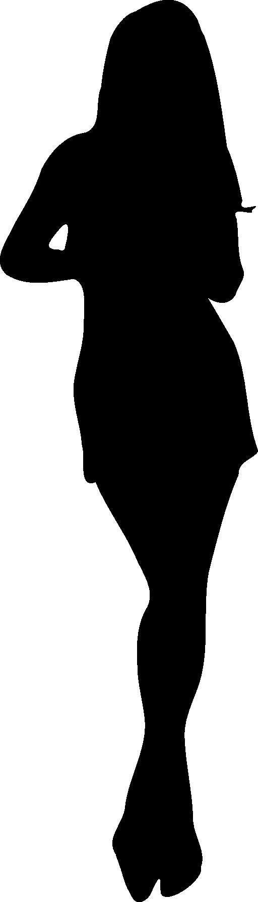 512x1790 Clipart Girl Silhouette