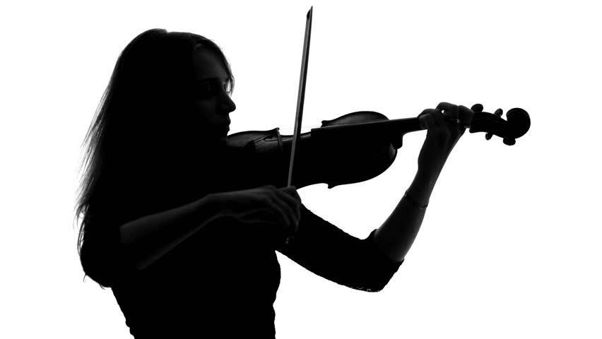 852x480 Drawn Violinist Silhouette
