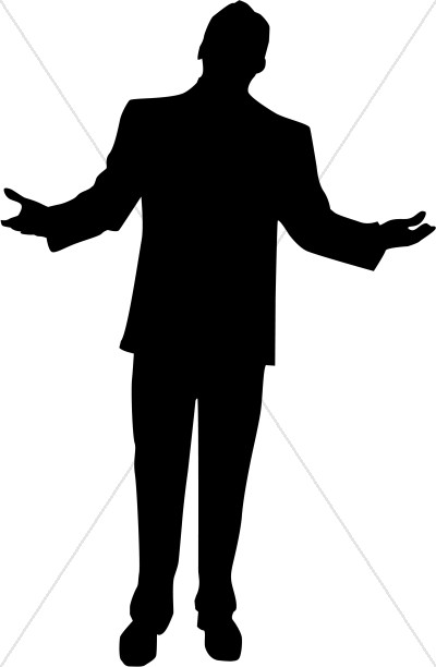 400x612 A Person Kneeling Silhouette Clipart On Both Knees