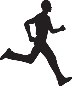 254x300 Clipart Man Running Jogger Clipart Image Man Running Silhouette