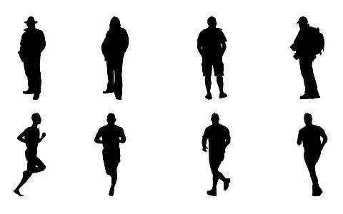 480x300 Free Photo Silhouette, Man, Sunset, Dusk, Sky, Guy, People Hippopx