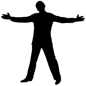 285x285 Man Clipart Black And White Silhouette