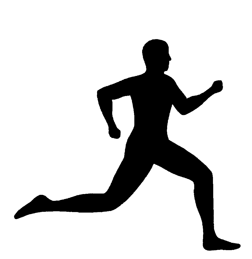 968x993 Person Running Black And White Man Running Clipart
