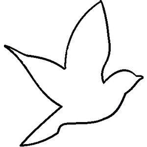300x300 Simple Bird Silhouette Tattoo