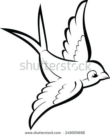 379x470 Clipart Bird Outline Clipground Free Sparrow Outlines Clipart Bird