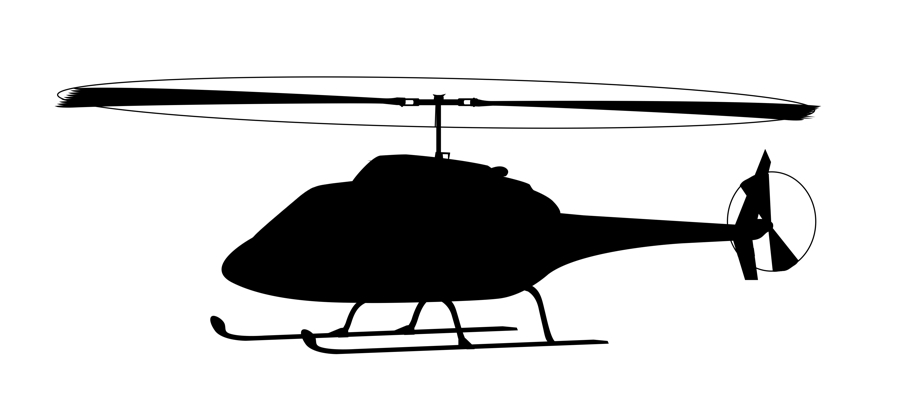 900x414 Helicopter Clipart Black And White
