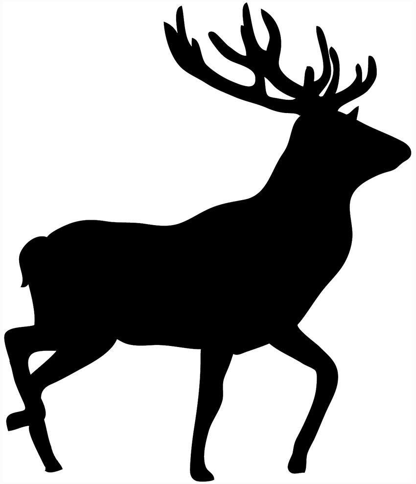 850x989 Deer Clipart Black And White Clipart Panda