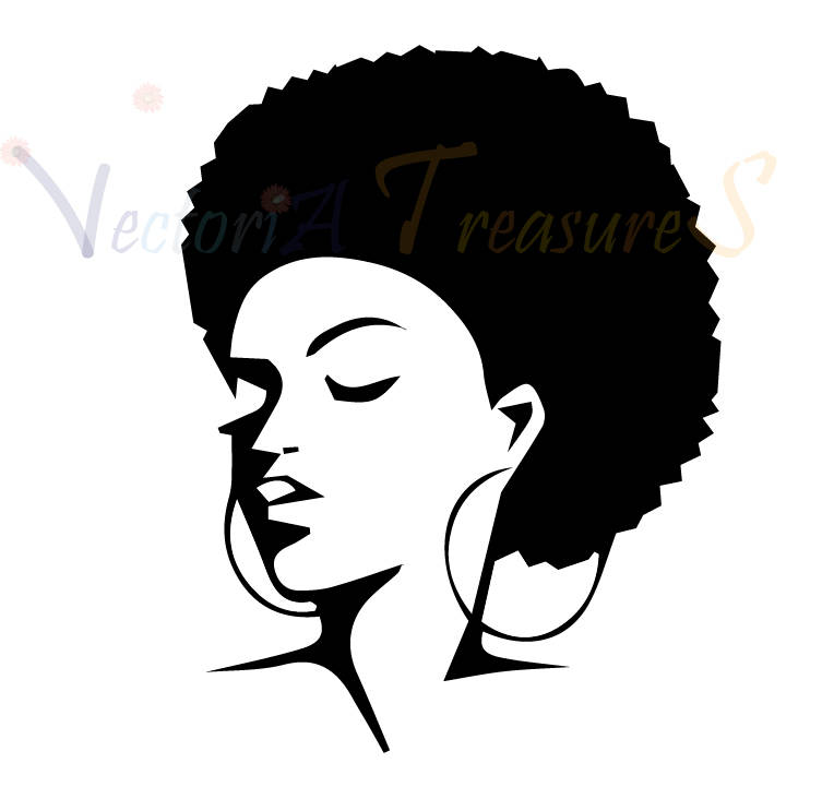 Black Woman Afro Silhouette At Getdrawings Com Free For
