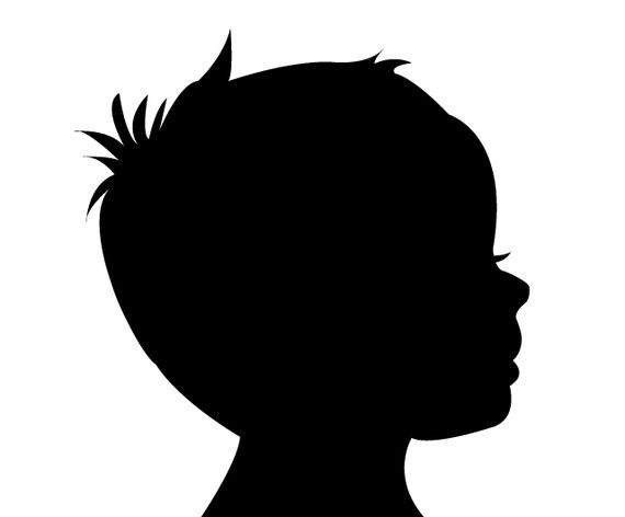 570x472 Family Silhouette Vector Faces