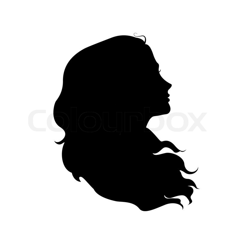 800x800 Silhouette Braid Black Hair From Back Clipart