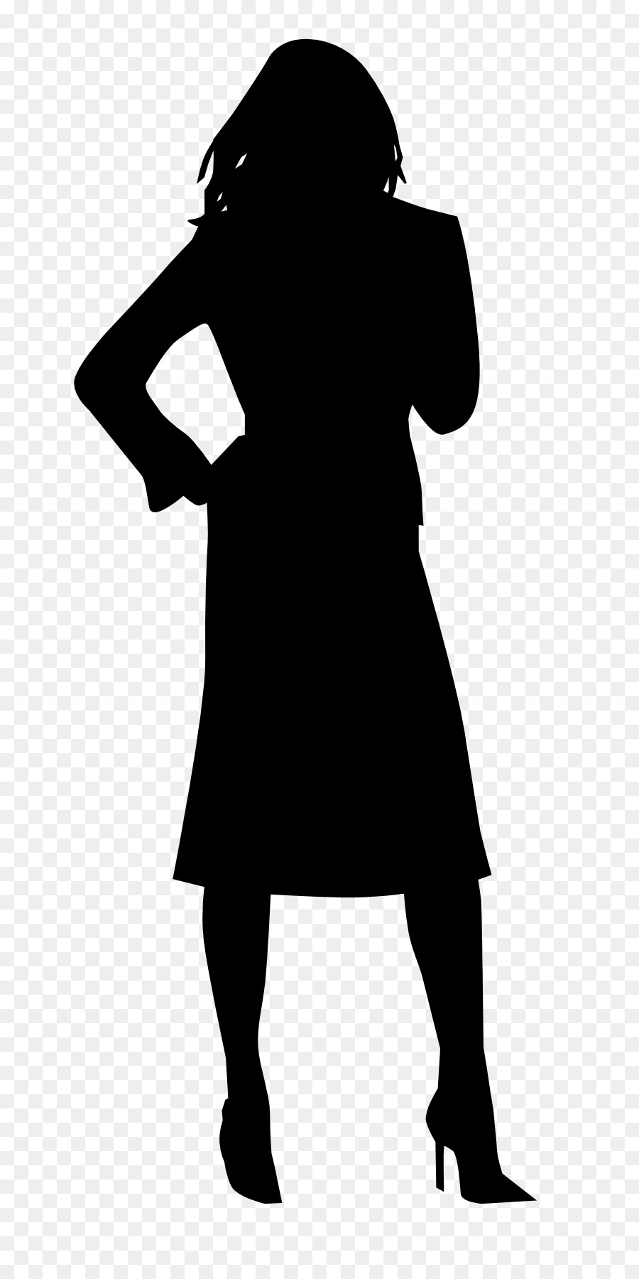 900x1800 Black Woman Model Silhouette Clip Art