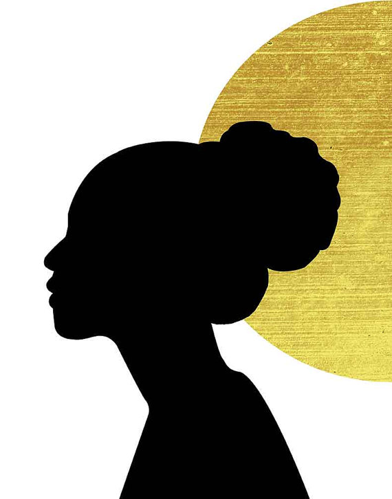 570x726 African Wall Art Gold And Black African Art Black Woman