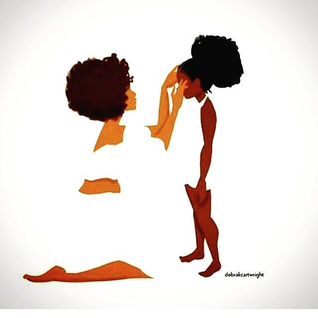 Black Woman With Afro Silhouette