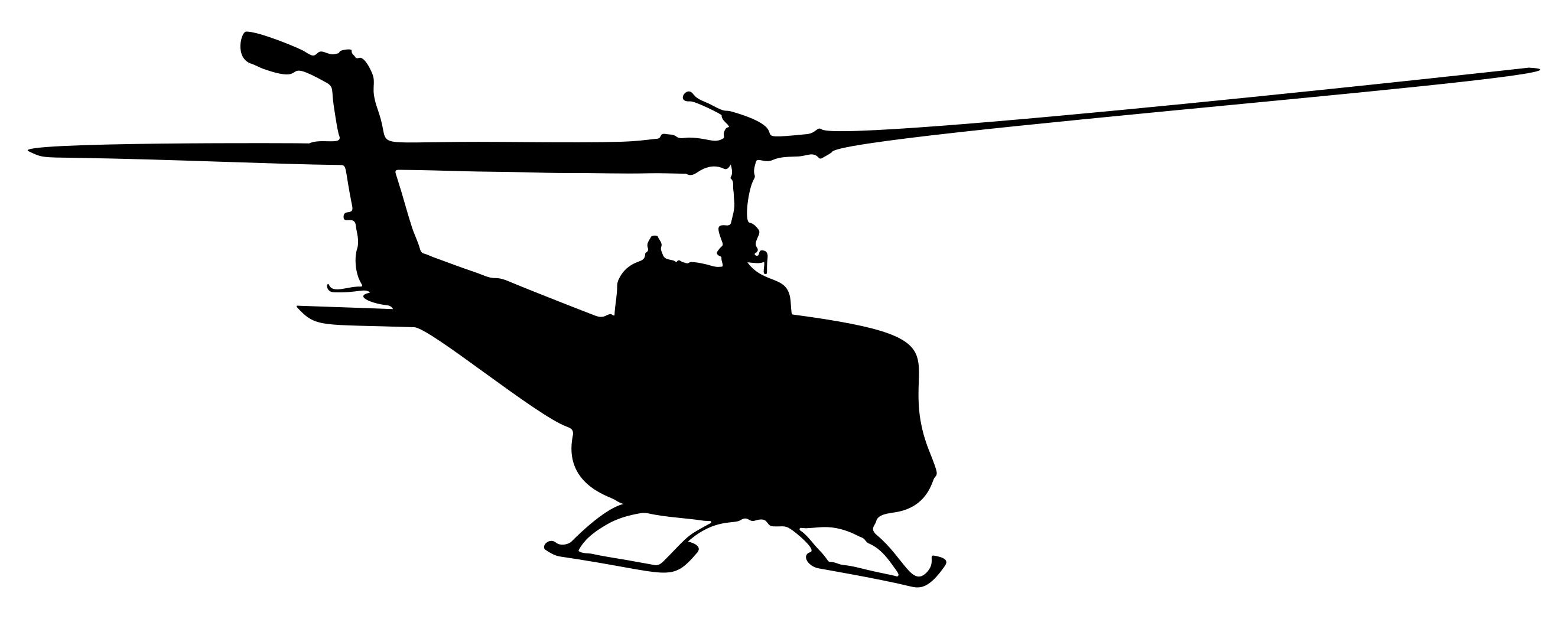 2654x1048 Helicopter Silhouette 6 Clipart