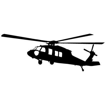 450x450 Helicopter Vinyl Sticker