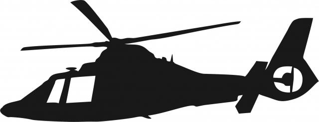 640x246 Laser Cut Appliques Helicopter Silhouette Applique