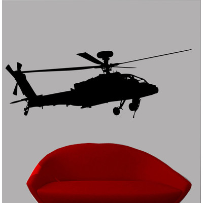 400x400 Wallhogs Haynes Silhouette Helicopter Viii Cutout Wall Decal