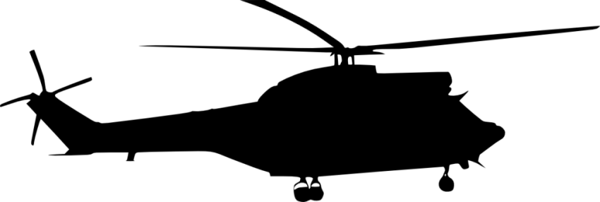850x286 Helicopter Side View Silhouette Png