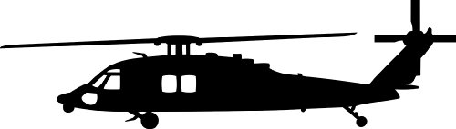 500x142 Sikorsky Blackhawk Mh 60 Helicopter Vinyl Decal