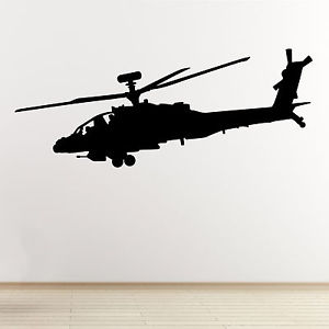300x300 Apache Helicopter Wall Sticker