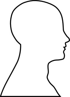 236x327 Human Head Pattern. Use The Printable Outline For Crafts, Creating