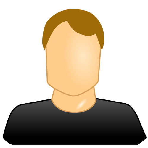 500x500 Vector Image Of Blank Face Male User Icon Public Domain Vectors