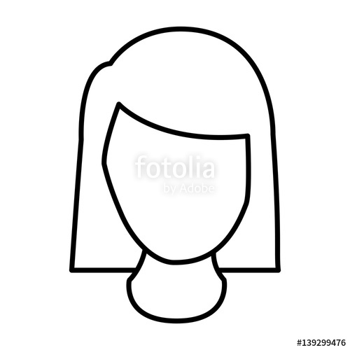 500x500 Silhouette Face Woman Icon, Vector Illustraction Design Image