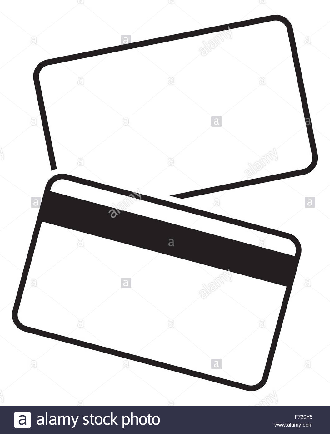 1056x1390 Frontnd Back Of Blank Debit Card Silhouette Isolated On