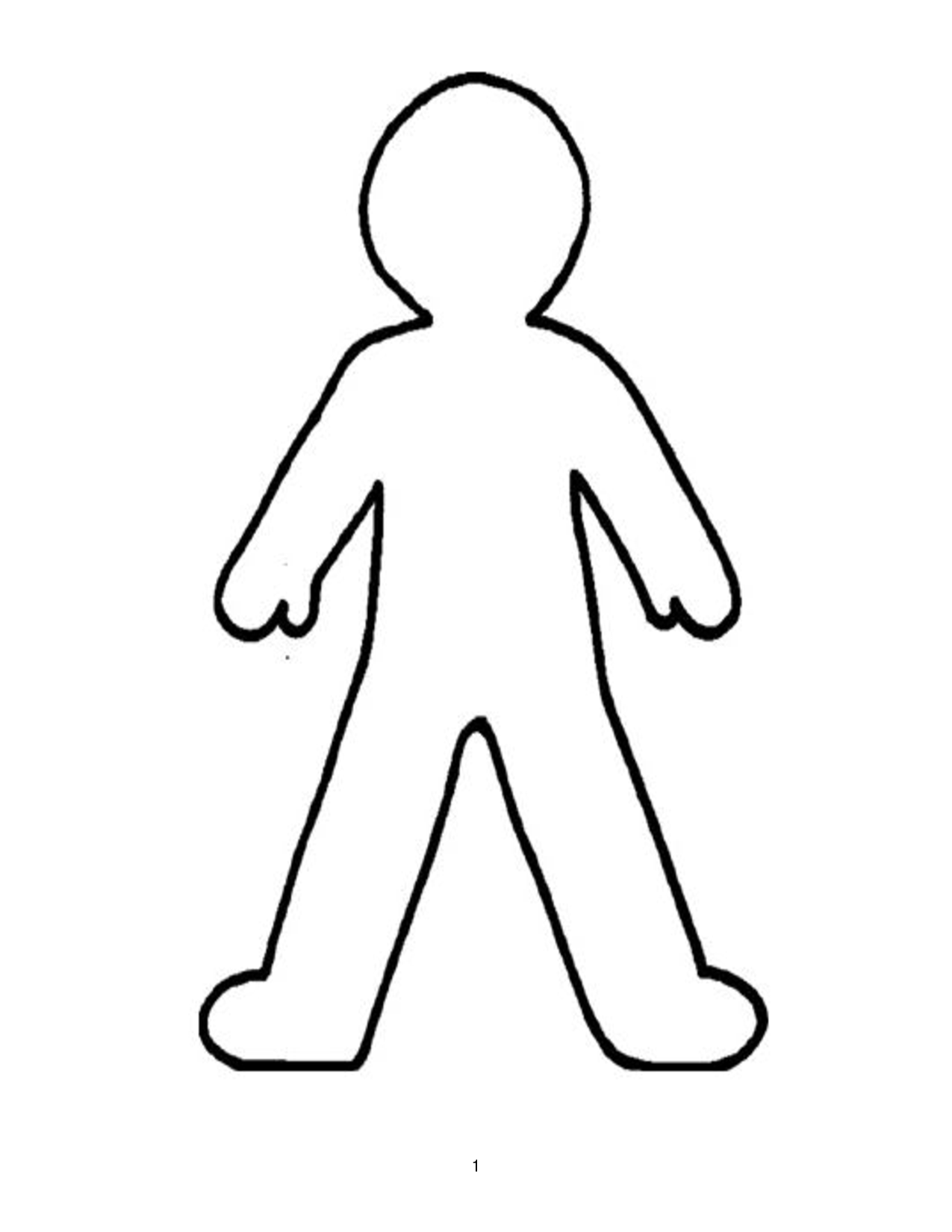 1275x1650 Person Outline Blank Person Template Free Download Clip Art