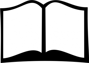 300x214 Black And White Open Book Vector Image
