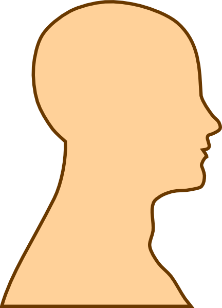432x599 Blank Face Silhouette Clipart