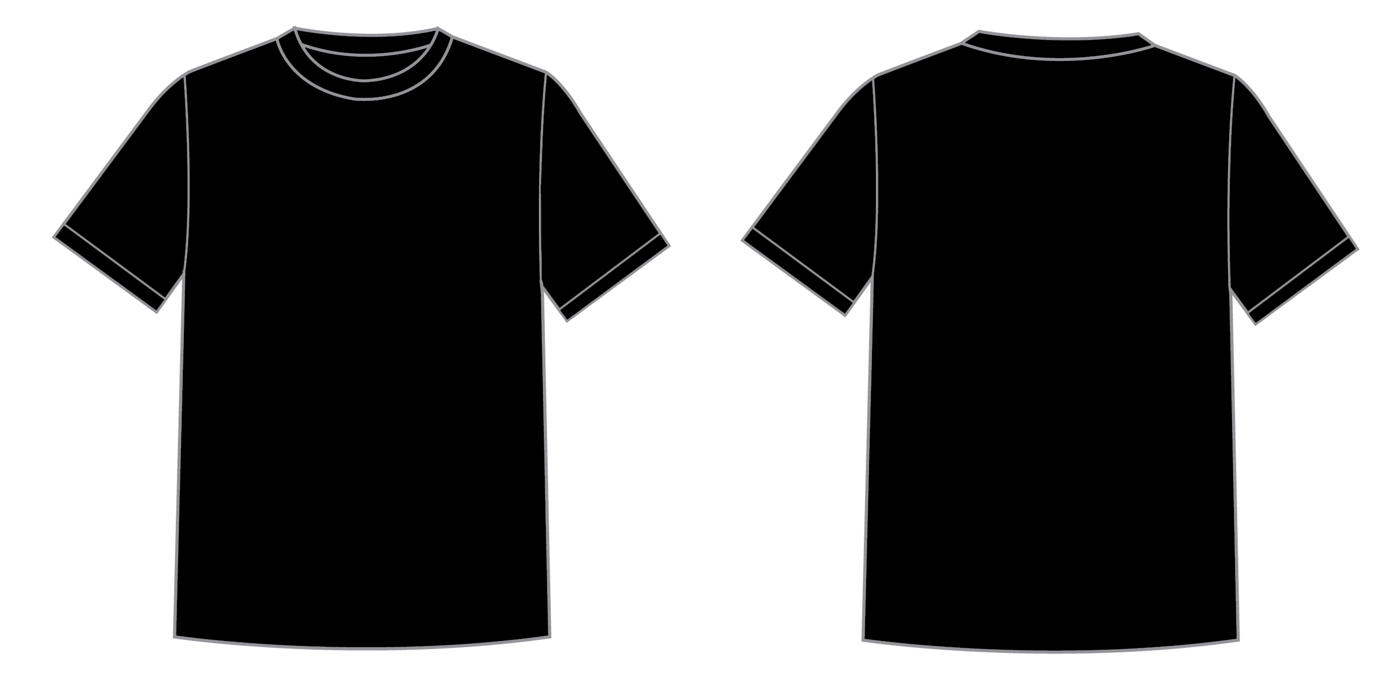 Blank T Shirt Silhouette at GetDrawings.com | Free for personal use ...