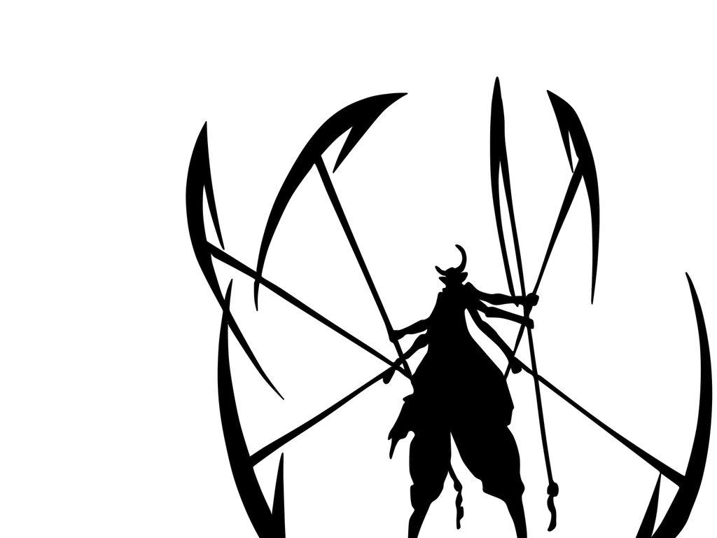 1024x768 Espada Silhouette