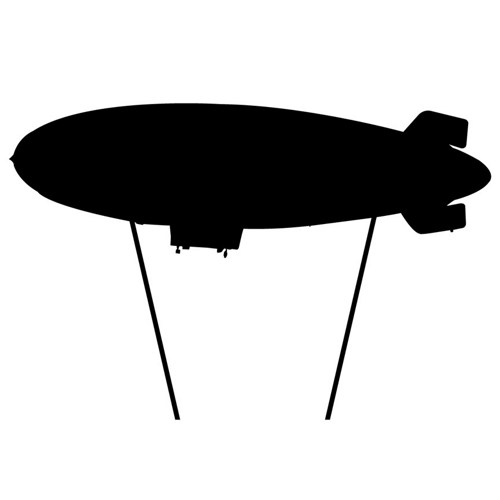 500x500 Blimp With Ropes Wall Decal Wilsongraphics On Artfire