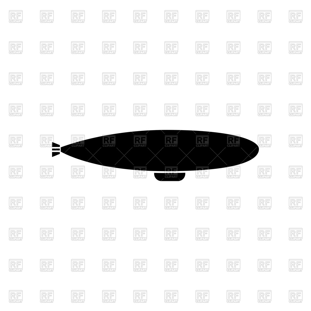 1200x1200 Dirigible Silhouette Royalty Free Vector Clip Art Image