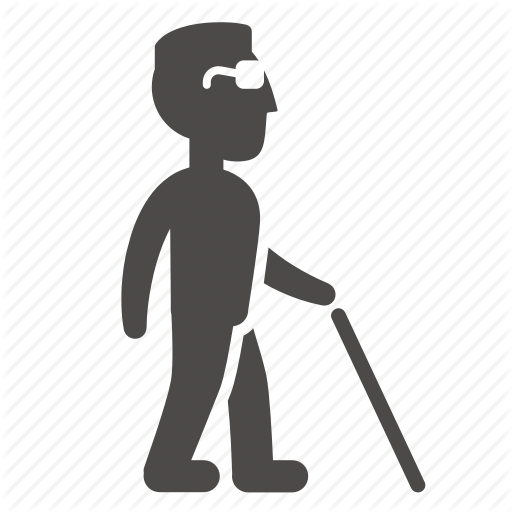 512x512 Adult, Blind, Cane, Disabled, Health, Man, People Icon Icon