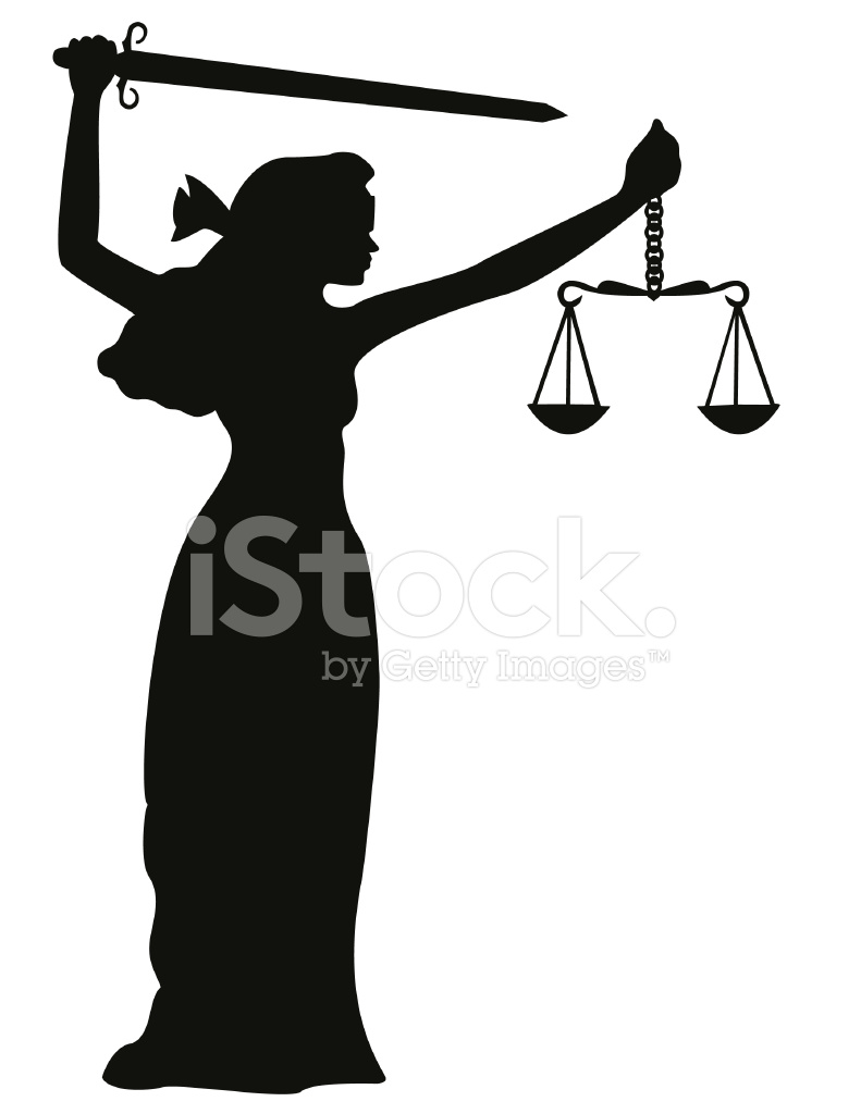 791x1024 Justice Silhouette Stock Vector