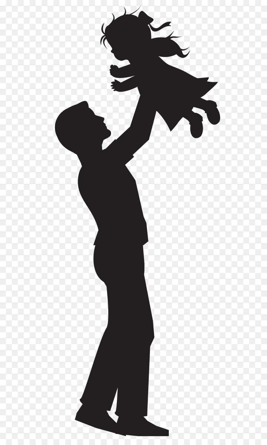 900x1500 Silhouette Father Daughter Clip Art