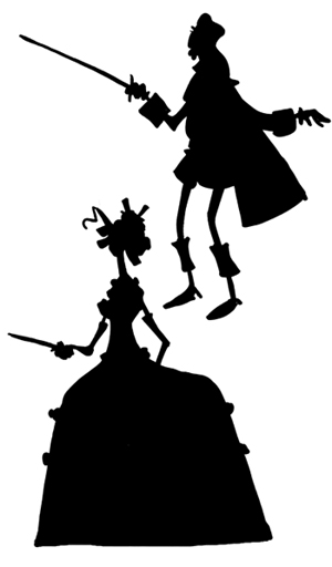 300x512 Chris Schweizer's Blog Silhouette Sundays The Three Musketeers