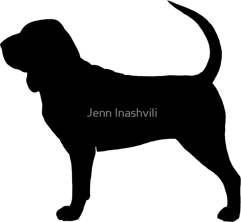 800x738 Bloodhound Silhouette(S) Stickers By Jenn Inashvili Redbubble