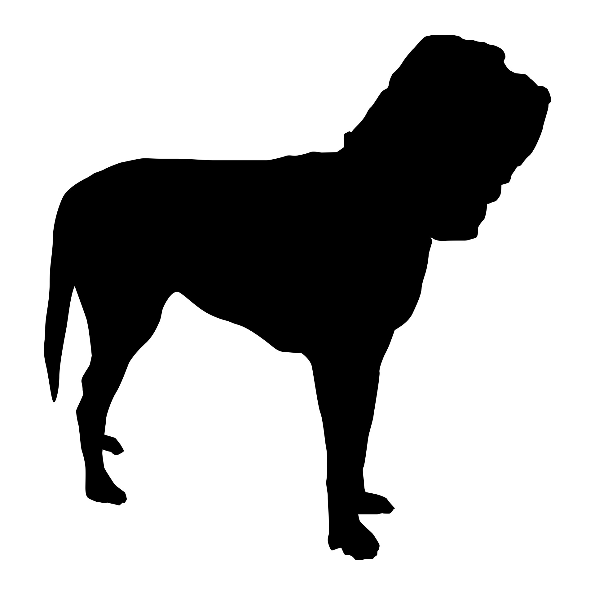1920x1920 Bloodhound Silhouette Free Stock Photo