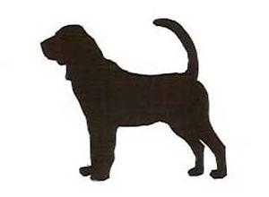 300x220 Bloodhound Silhouette Vinyl Decal Ebay