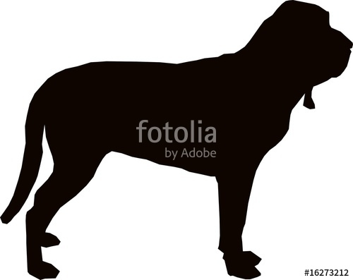500x397 Bloodhound Sillhouette Stock Image And Royalty Free Vector Files