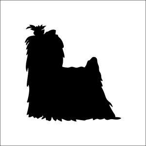 300x300 Bloodhound Silhouette Stickers