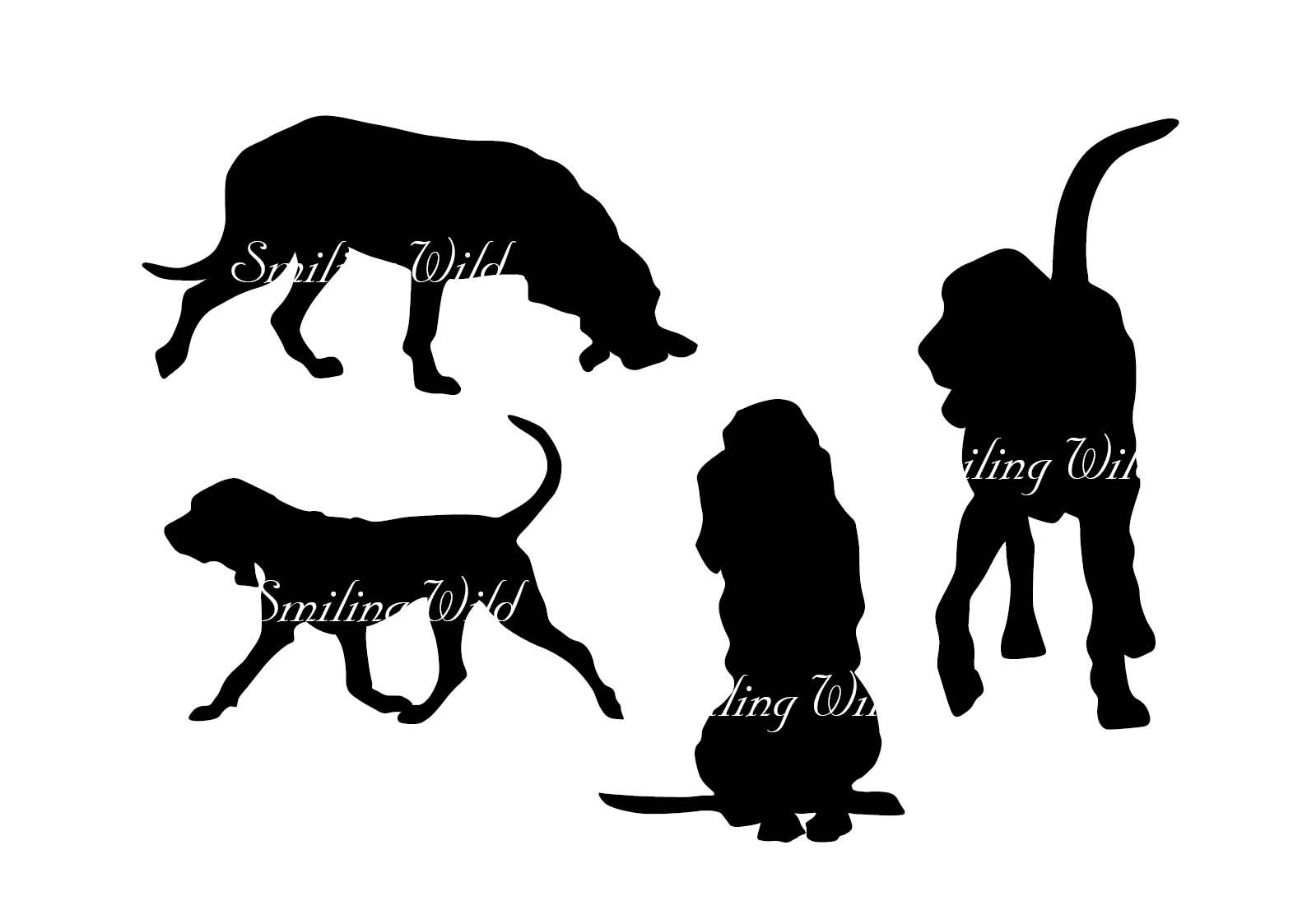 1588x1123 Bloodhound Svg Silhouette Clipart Printable Vector Graphic File