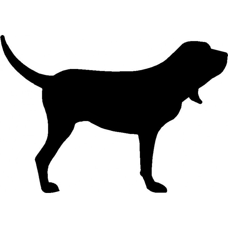 800x800 Dog Breed Silhouette Wall Hanging Magnetic Memo Bloodhound