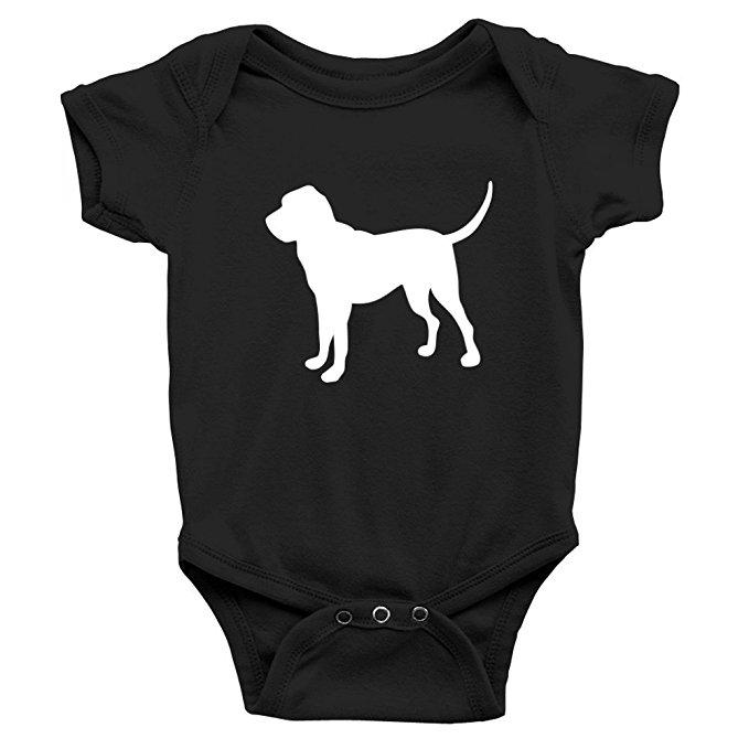 679x679 Teeburon Bloodhound Silhouette Baby Bodysuit Clothing
