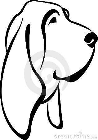 316x450 Ausmalbilder Hunde Awesome Bloodhound Coloring Page